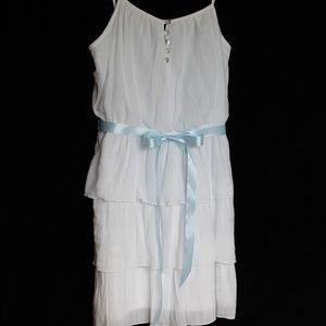 Lily Rose white layered spaghetti strap dress sz M